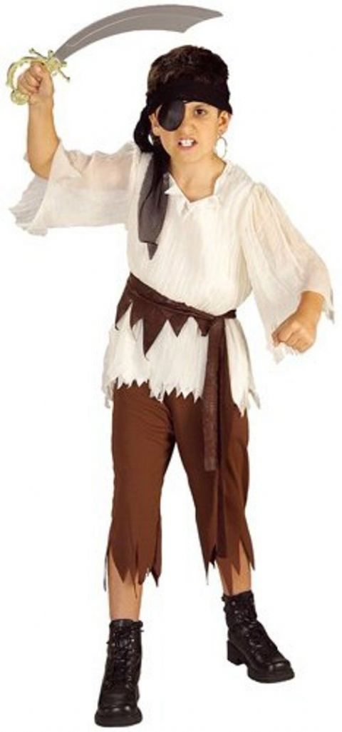 Boys Pirate Budget Fancy Dress Costume (Age 5 - 7)